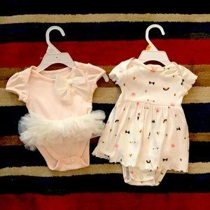 Other - Baby girl bodysuit dresses 0-3M
